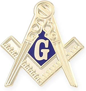 Masonic Compass Enamel Cufflink + Lapel Pin + Tie Bar