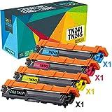 Do it Wiser Cartouches de Toner TN-241BK TN-245 C,M,Y Compatibles pour Brother MFC...