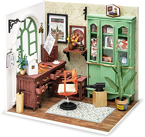 Robotime Casa de muñecas de madera, casa en miniatura, kit de construcción con muebles y música, casa moderna, accesorios para muñecas, casa, maquetas
