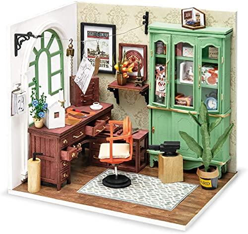 Robotime Puppenhaus DIY Haus Holz - Modernes Wohnhaus Puppenzubehör Haus Einrichtung - Weihnachten Spielzeug mädchen ab 14 Jahre (DD)
