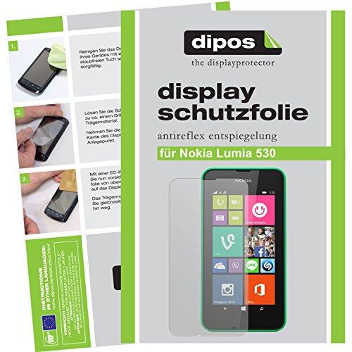 dipos I 2X Schutzfolie matt kompatibel mit Nokia Lumia 530 Folie Bildschirmschutzfolie