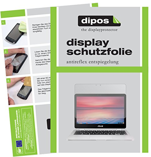 dipos I 2X Schutzfolie matt kompatibel mit Asus Chromebook Flip 2 Folie Bildschirmschutzfolie