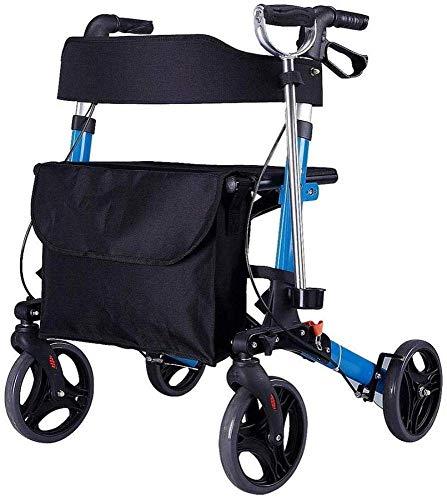 ZTBXQ Gehgestell Leichte Gesundheit Körperpflege Aluminium mit Sitz Standard Gehhilfen Gehhilfen Mobilitätshilfen mit Halter Abnehmbare Aufbewahrungstasche Faltbarer Gehhilfen für Erwachsene