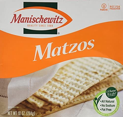 PACK OF 12 - Manischewitz Unsalted Matzos Ranking TOP16 Passover Not For famous Cra