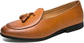 RongAi Chen Driving Loafers for Men Classic Dress Moccasins Boat Shoes Slip on Microfiber Leather Leisure Soft Breathable (Color : Yellow, Size : 6 UK)