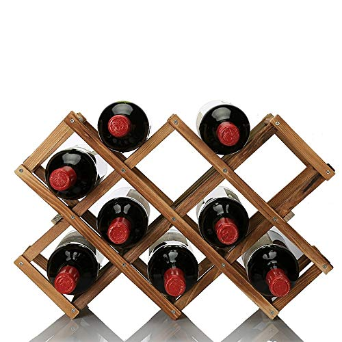 OPPIS - Estante de Madera para Vino, Plegable, de pie, para Almacenamiento de Vino, mostrador de Vino, Armario de Cocina, Organizador de Botellas de Vino para el hogar, Cocina, Bar