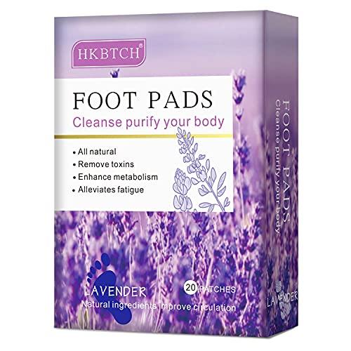 Detox Fußpflaster, Lavendel Fusspflaster, Natürliche Detox Foot Pads, Detox Pflaster Fuß zum Entfernen von Körpergiften, Fördern die Durchblutung, Lindern Schmerzen und Verbessern den Schlaf - 20pcs