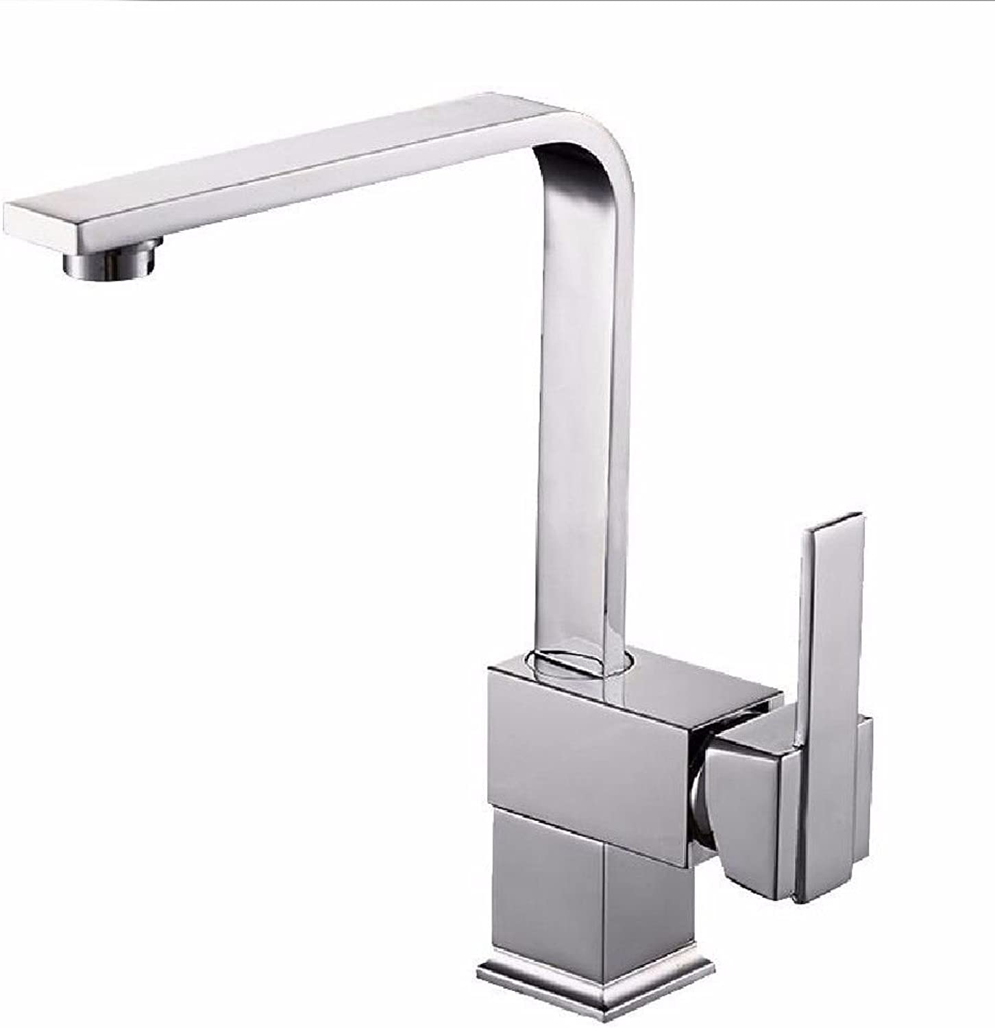Commercial Single Lever Pull Down Kitchen Sink Faucet Brass Constructed Polished Kitchen Sink Faucet Hot and Cold Sink Faucet Copper Hot and Cold Kitchen Faucet