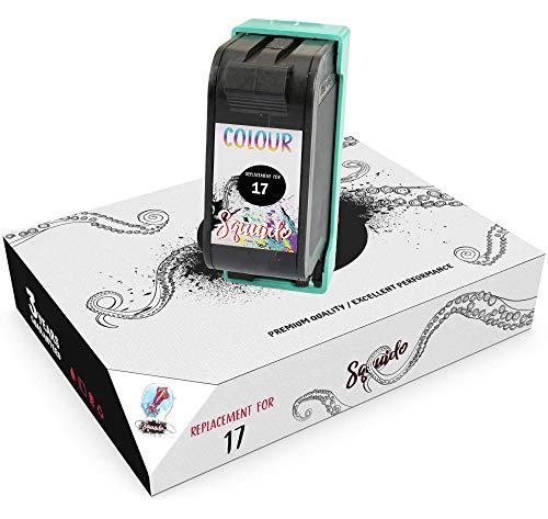 Squuido Remanufactured Cartucho de Tinta 17 Tricolor Compatible con HP Deskjet 816c 825c 827 840c 841c 842c 843c 845c 845cvr 848c | Alto Rendimiento