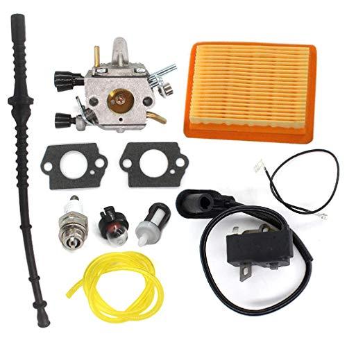 AISEN Bobine d'allumage, carburateur, filtre à air, bougie d'allumage pour débroussailleuse Stihl FS120 FS200 FS250 FS300