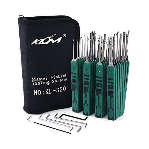 KLOM 31 piece lock pick set by Walker Locksmiths