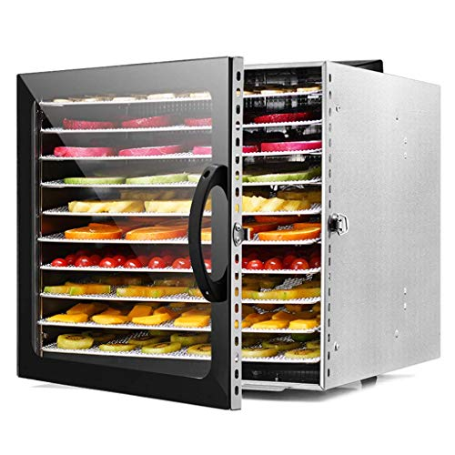 Amazing Deal HUXIQI Stainless Steel Tray Electric Food Dehydrator Machine - 10 Trays - 1000w - Digit...