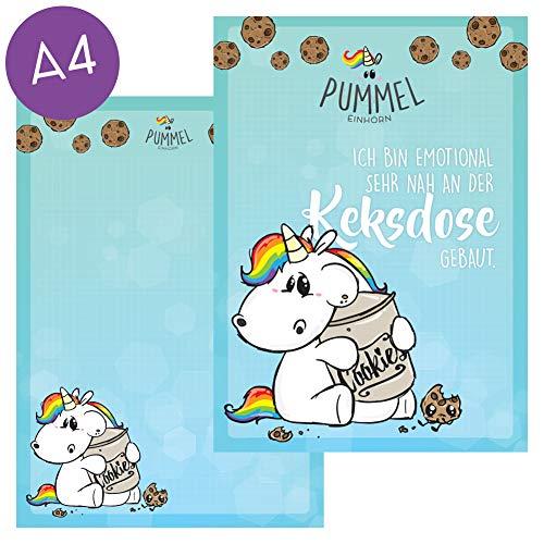 Pummel & Friends - Schreibblock (A4) - Pummeleinhorn (Keksdose)