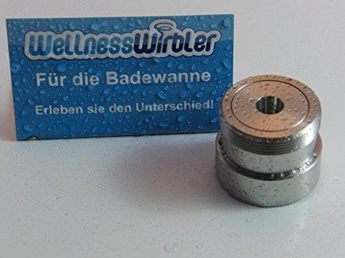 Wellnesswirbler ® für die Badewanne - M28 Gewinde - Wasserwirbler/Wirbler
