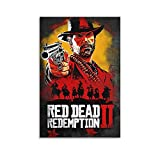 great Red Dead Redemption Canvas Art Poster and Wall Art Picture Print Modern Family Bedroom Decor Posters 12×08inch(30×20cm)