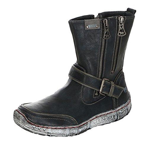 MUSTANG Damen Stiefel gefüttert Blau, Schuhgröße:EUR 41