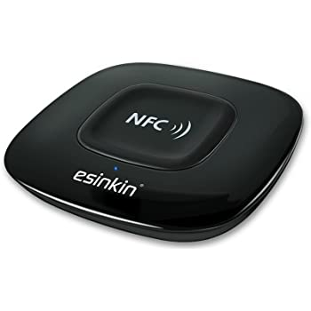 Esinkin Bluetooth Receiver Wireless Audio Adapter 4.0(NFC-Enabled) for HD Music Stereo Sound System