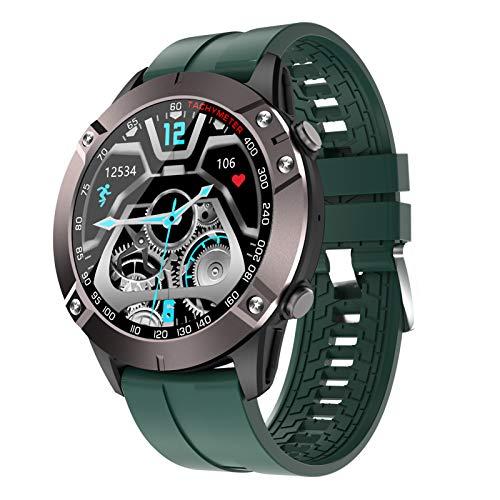 BNMY Smartwatch Reloj Inteligente Impermeable con Llamada Bluetooth Monitor Frecuencia Cardíaca Monitor De Sueño, Podómetro Seguimiento Actividad Física con Pantalla Táctil para Android iOS,Verde