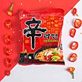 NONG SHIM Fideos Instantáneos Red Shin Ramyun, Super Spicy, Family Pack 600 g