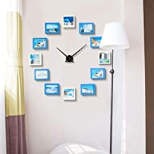 Photo Wall Photo Frame Wall,bedroom Decoration Wall Hanging Combination,creative Personality Decorative Painting,a Set Of 12 Photo Frames (Color : Blue and white, Size : 120 * 120cm)