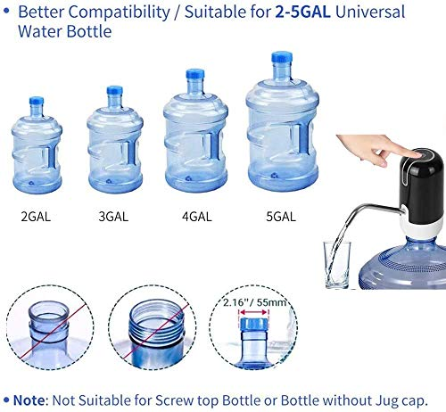 EDGEMETER Automatic Wireless Water Can Dispenser Pump for 20 LTR Bottle Can (Three Month Warranty)