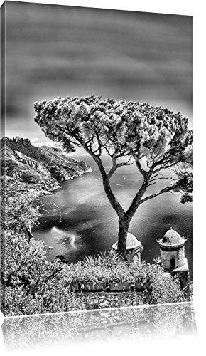 Mediteranes zeeFoto Canvas | Maat: 80x60 cm | Wanddecoraties | Kunstdruk | Volledig gemonteerd
