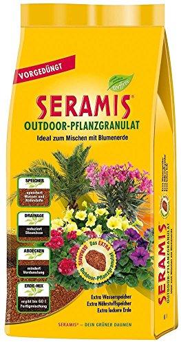 Seramis Ton-Granulat für alle Balkon- und Kübelpflanzen, Vorgedüngt, Outdoor-Pflanzgranulat, Ton-Farbe, 6 Liter