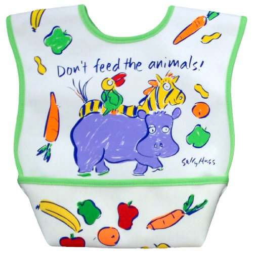 Dex Dura Bib Large for Ages 6 - 24 Months - Don't Feed the Animals