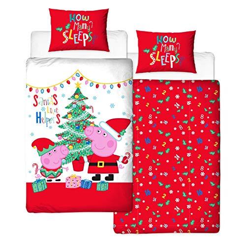 Peppa Pig, Navidad Ropa de cama individual - Noel