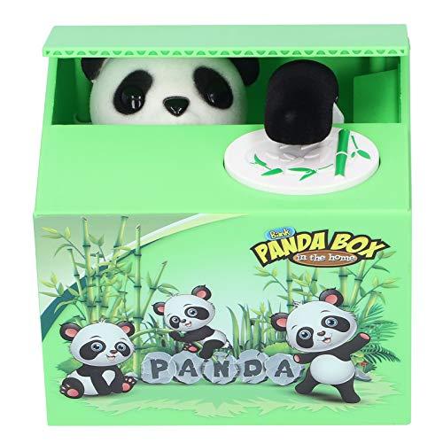 Robo de monedas Panda Box, Robo automático de monedas Gato Hucha Hucha, Banco de dinero electrónico para ahorrar dinero, Regalo para niños