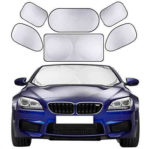 Gwgbxx Sombra De La Automoción Lado del Parabrisas 6 De Los Rayos UV Sombra Sombra Visera Ventana Frontal Puede Permanecer Protección Radiador De Vehículo