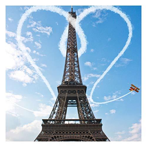 Vliestapete - Paris - City of Love - Fototapete Quadrat Vlies Tapete Wandtapete Wandbild Foto 3D Fototapete, Größe HxB: 240cm x 240cm