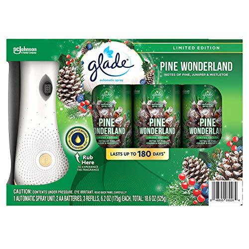 Glade Auto Spray 1+3 (Pine Wonderland) Limited Holiday Edition