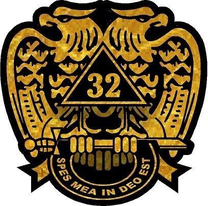 ProSticker 032 (One) 4' Masonic Series Freemason 32nd degree Decal Sticker