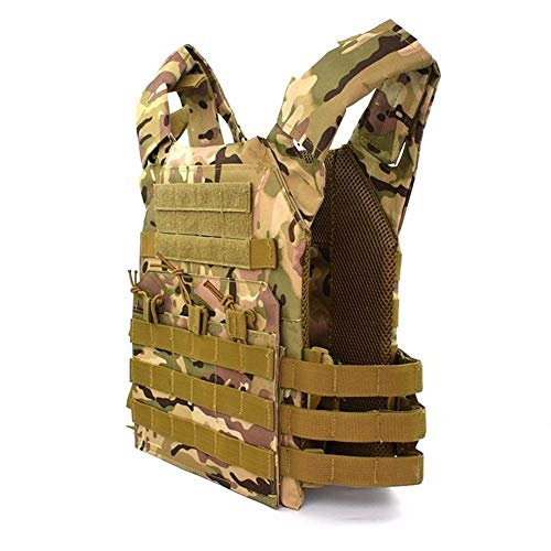 LUOSI Jagd Taktische Körperschutz JPC Molle Plattenträger Weste Outdoor CS Spiel Paintball Airsoft Weste Militärische Ausrüstung (Color : CP, Size : One Size)