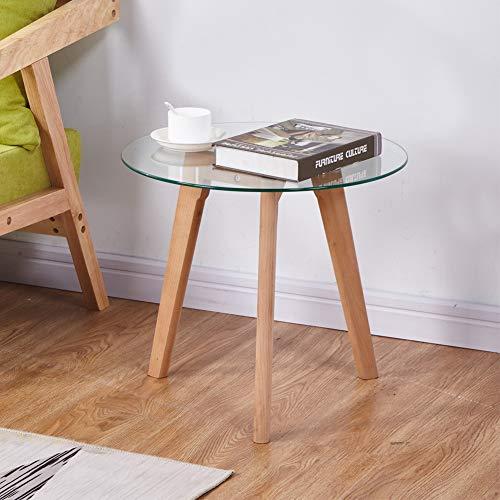 GOLDFAN Moderno Lucido Alto Tavolino Piccolo da Salotto Vetro Comodino Quadrato Contenitore Tavolino Divano con Cassetto per Camera Bianco Design Scandinavo
