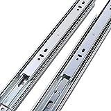 3-Folds Full Extension Ball Bearing Side Mount Glides 28'Drawer Slides,100-Pound Capacity