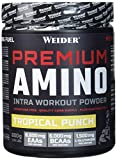 Weider Premium Amino Intra Workout mit EAA/ BCAA, Tropical Punch, Fitness & Bodybuilding, 800g -