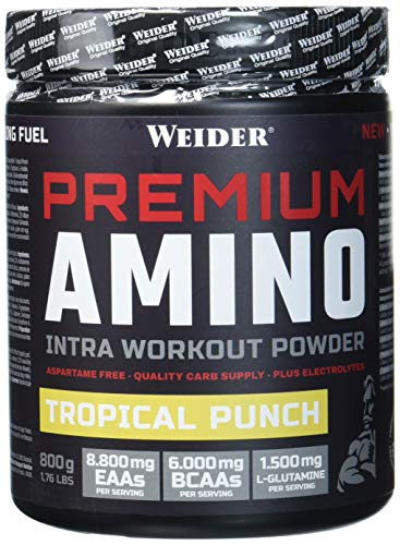 Weider Premium Amino Intra Workout mit EAA/ BCAA, Tropical Punch, Fitness & Bodybuilding, 800g