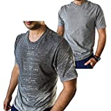 Funny T Shirt for Men with Sweat Activated Technology Workout Progress Meter You Can Go Home When Reach 100% Cool Gym Gift Large Grey