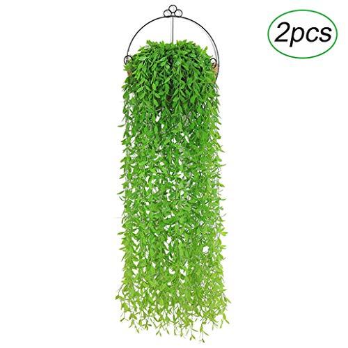 Kunstmatige Ivy, 3.3 Voeten Plant Plastic Opknoping Groene Varen Muur Binnen En Outdoor Hangende Mand Decoratie LL-11.12