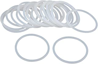 X AUTOHAUX 20pcs White Silicone Rubber O-Ring VMQ Seal Gasket Washer for Car 50mm x 3.1mm