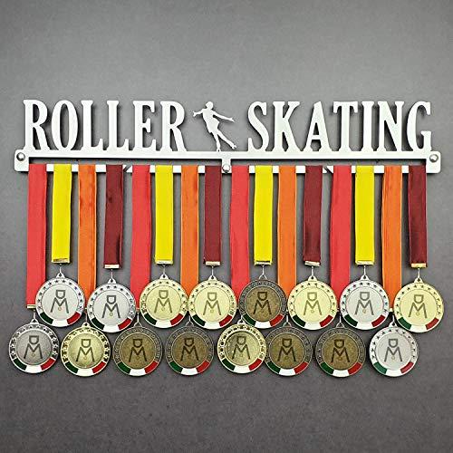 Roller Skating - Colgador de medallas Deportivas - Medallero de Pared Patinaje Artístico - Sport Medal Hanger - Display Rack (750 mm x 115 mm x 3 mm)