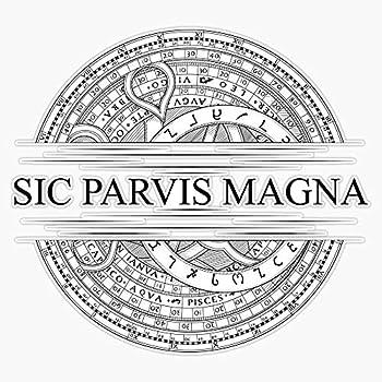 Sic Parvis Magna - Uncharted - Black Version Vinyl Waterproof Sticker Decal Car Laptop Wall Window Bumper Sticker 5