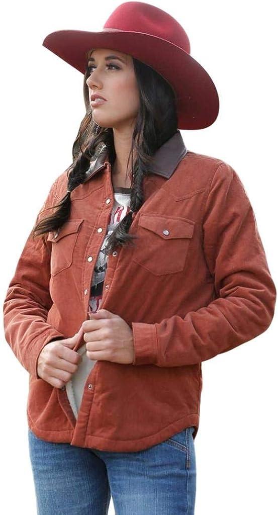 Cruel Girl Womens Cord/Sherpa Shirt Jacket