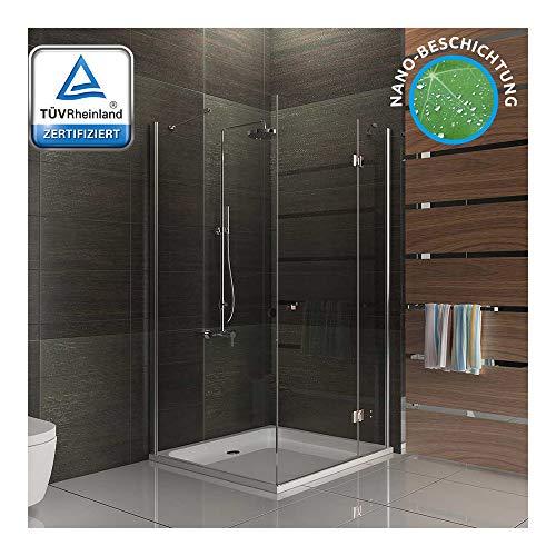 Veiligheidsglas douche douchewand douchecabine met antikalk vierkante badkuipmaat 90x100x195