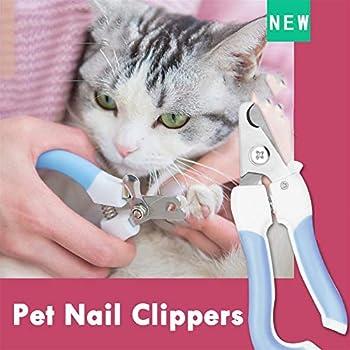 Llan Professional Pet Cat Dog Nail Clipper Cutter en Acier Inoxydable Ciseaux Toilettage Clippers Griffe Ciseaux à Ongles avec Serrure