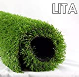 LITA 7ft x 13ft Realistic Deluxe Artificial Grass Synthetic Thick Lawn Turf...