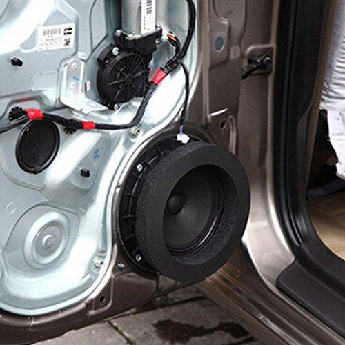"Sydien 2 Pack Self Adhesive Car Universal Foam Speaker Enhancer System Kit for 6"" and 6.5"" Speaker,Speaker Insulation Ring Soundproof Cotton Pad"