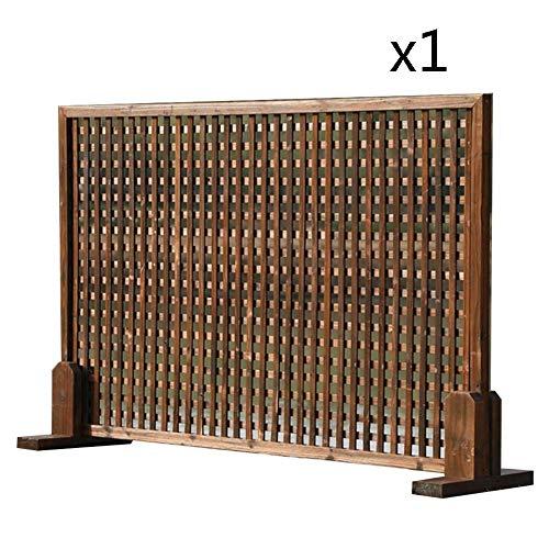 WXQIANG Gartenzaun Holz Leitschiene Wand Gitter Picket Fencing Partition Screen Climbing Vine Flower Stand, 6 Größen (Color : 3PCS, Size : 120X30CM)